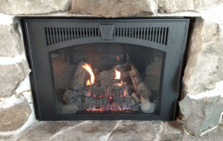 Lopi 616 Gas Insert with Black Wilmington face and Custom cut surround
