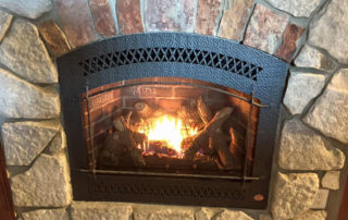 Fireplace X 864HO with Charcoal Artisan Face