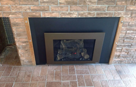Fireplace X 430 Gas Insert with Bronze Shadow Box face.