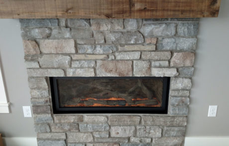 Fireplace X 4415 Linear gas fireplace with driftwood log set